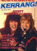 Kerrang Magazine April 3, 1986 Magazine