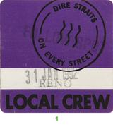 Dire Straits Backstage Pass