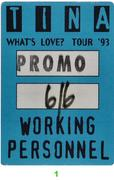 Tina Turner Backstage Pass