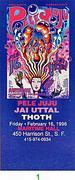 Pele Juju Vintage Ticket