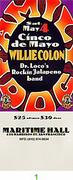 Willie Colon Vintage Ticket