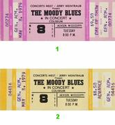 The Moody Blues Vintage Ticket