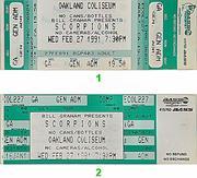 Scorpions Vintage Ticket