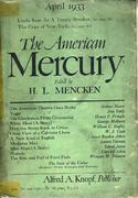 The American Mercury Magazine April 1933 Magazine
