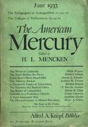 The American Mercury Magazine June 1933 Magazine