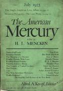 The American Mercury Magazine July 1933 Magazine