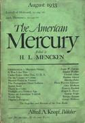 The American Mercury Magazine August 1933 Magazine
