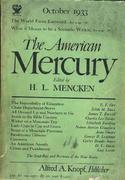 The American Mercury Magazine October 1933 Magazine