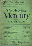 The American Mercury Magazine November 1933 Magazine