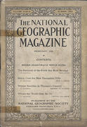 National Geographic February 1920 Vintage Magazine