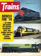 Trains Magazine January 1974 Magazine