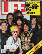 LIFE Magazine April 1985 - Historic Songfest for Africa Magazine