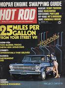 Hot Rod Magazine January 1974 Magazine