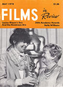 Films In Review Magazine May 1978 Magazine