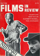 Films In Review Magazine May 1980 Vintage Magazine
