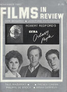 Films In Review Magazine November 1980 Magazine