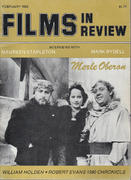 Films In Review Magazine February 1982 Magazine