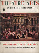 Theatre Arts Magazine December 1953 Magazine
