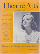 Theatre Arts Magazine November 1941 Vintage Magazine