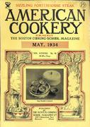 American Cookery Magazine May 1934 Magazine