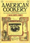 American Cookery Magazine August 1935 Magazine