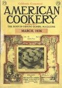American Cookery Magazine March 1936 Magazine