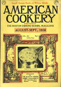 American Cookery Magazine August 1936 Magazine
