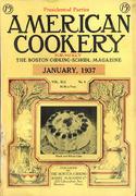 American Cookery Magazine January 1937 Magazine