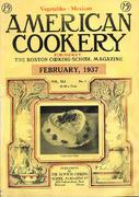 American Cookery Magazine February 1937 Magazine