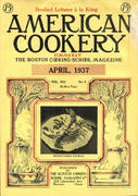 American Cookery Magazine April 1937 Magazine