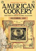American Cookery Magazine December 1937 Magazine