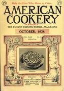 American Cookery Magazine October 1938 Magazine