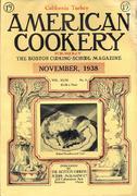 American Cookery Magazine November 1938 Magazine