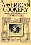 American Cookery Magazine December 1938 Magazine