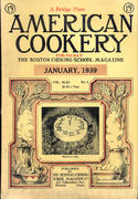 American Cookery Magazine January 1939 Magazine