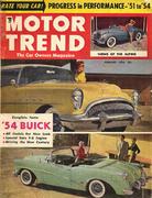 Motor Trend Magazine February 1954 Magazine