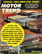 Motor Trend Magazine November 1961 Magazine