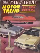 Motor Trend Magazine February 1965 Magazine