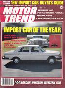 Motor Trend Magazine April 1977 Magazine