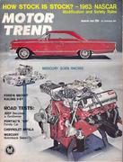 Motor Trend Magazine March 1963 Magazine