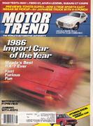 Motor Trend Magazine March 1986 Magazine
