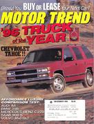 Motor Trend Magazine December 1995 Magazine