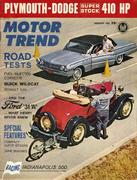 Motor Trend Magazine August 1962 Magazine