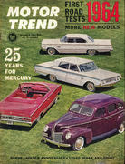 Motor Trend Magazine October 1963 Magazine