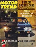 Motor Trend Magazine January 1965 Magazine