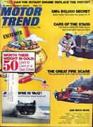 Motor Trend Magazine March 1974 Magazine