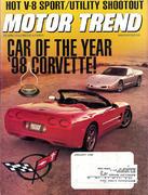 Motor Trend Magazine January 1998 Magazine