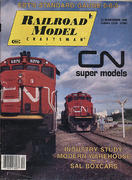 Railroad Model Craftsman Magazine December 1990 Magazine