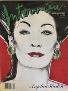 Interview Magazine December 1987 Magazine