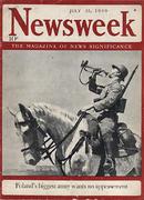 Newsweek Magazine July 31, 1939 Magazine